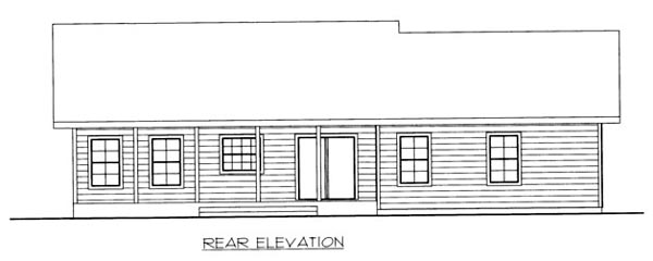 House Plan 86518 Rear Elevation