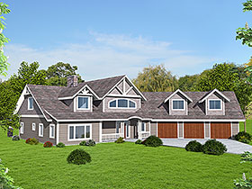 House Plan 86519 with 3 Beds, 3 Baths, 3 Car Garage Elevation