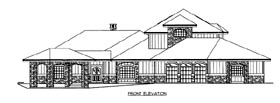 House Plan 86520 with 2 Beds, 5 Baths, 3 Car Garage Elevation