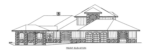 House Plan 86520 Elevation