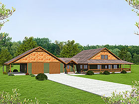 House Plan 86521 Elevation