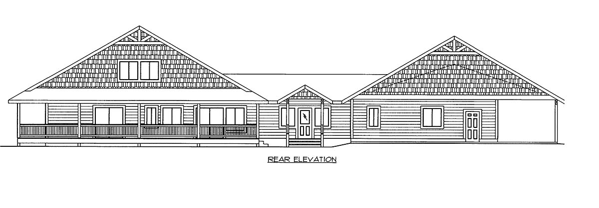 House Plan 86521 Rear Elevation