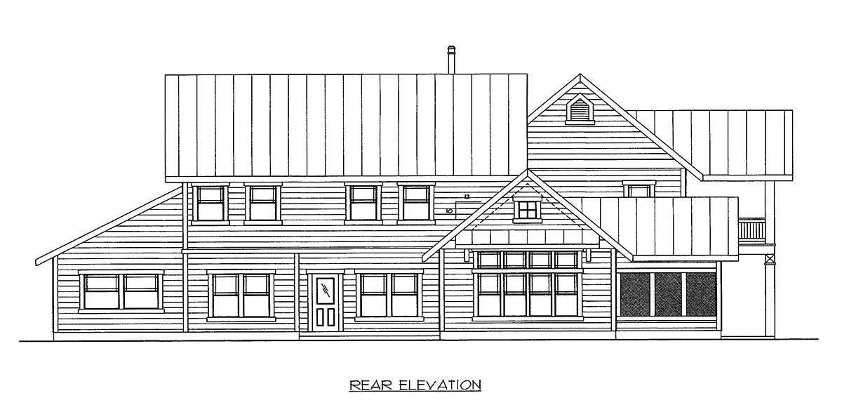 House Plan 86522 Rear Elevation