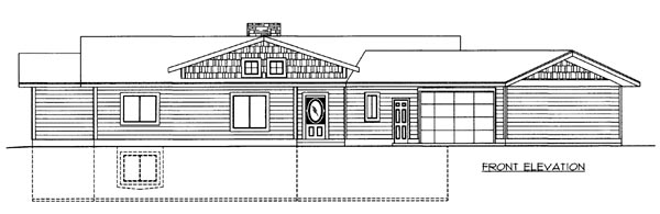House Plan 86523 Elevation