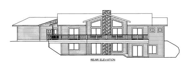 House Plan 86523 Rear Elevation