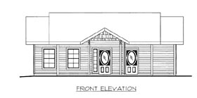House Plan 86524 Elevation