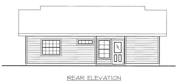 House Plan 86524 Rear Elevation