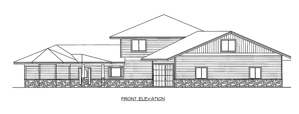 House Plan 86525 with 4 Beds, 4 Baths, 2 Car Garage Picture 1