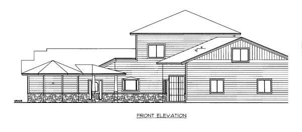 House Plan 86526 Elevation