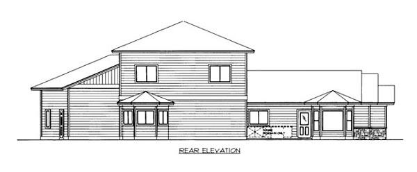 House Plan 86526 Rear Elevation
