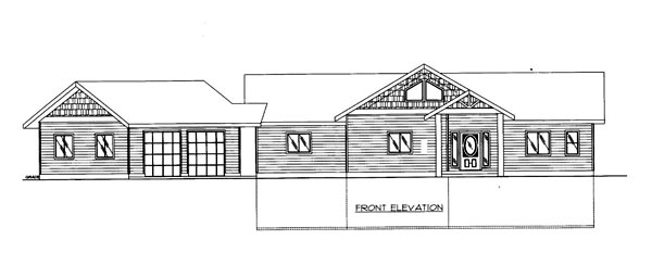House Plan 86527 Elevation