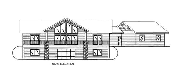 House Plan 86527 Rear Elevation