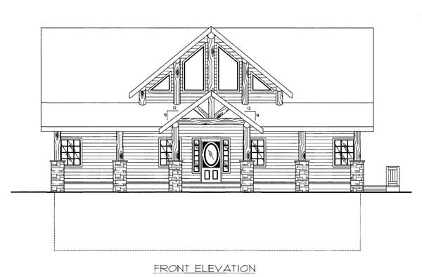 House Plan 86528 Elevation