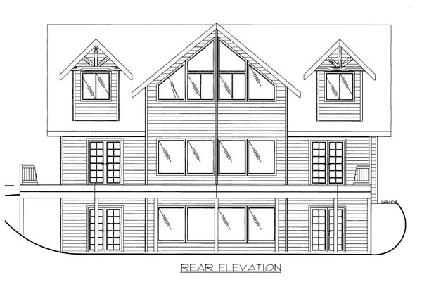 House Plan 86528 Rear Elevation