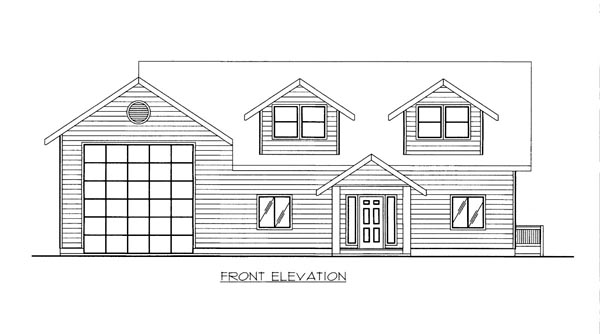 House Plan 86529 Elevation