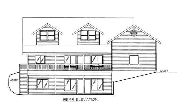 House Plan 86529 Rear Elevation