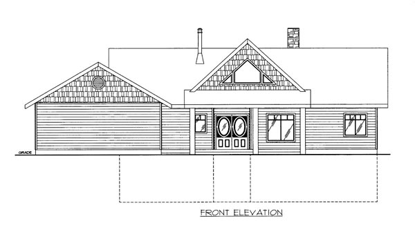 House Plan 86530 Elevation