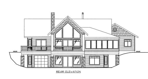 House Plan 86530 Rear Elevation