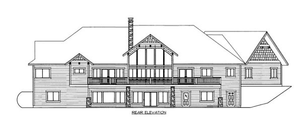 House Plan 86531 Rear Elevation