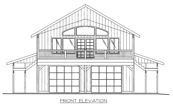 Log House Plan 86532 Elevation