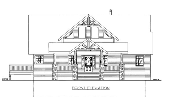House Plan 86533 with 4 Beds, 4 Baths, 2 Car Garage Elevation