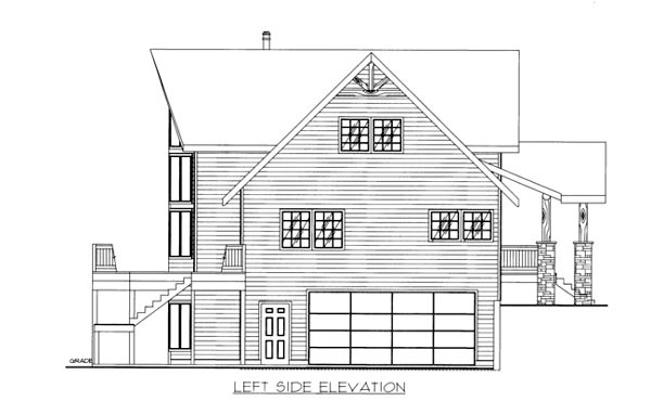House Plan 86533 with 4 Beds, 4 Baths, 2 Car Garage Picture 1