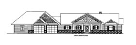 House Plan 86534 with 6 Beds, 5 Baths, 4 Car Garage Elevation