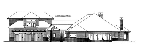 Elevation of Plan 86535