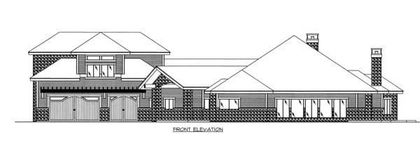 House Plan 86536 Elevation