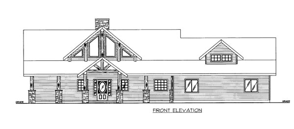 House Plan 86537 with 3 Beds, 3 Baths, 2 Car Garage Elevation