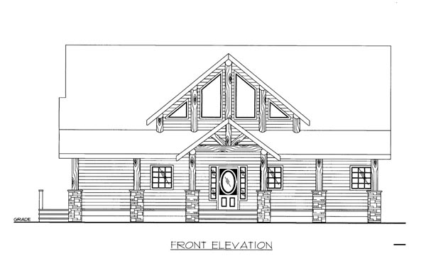 House Plan 86538 | Style Plan with 2541 Sq Ft, 3 Bedrooms, 3 Bathrooms Elevation