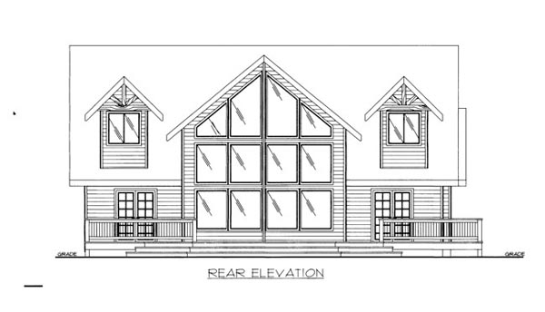 House Plan 86538 | Style Plan with 2541 Sq Ft, 3 Bedrooms, 3 Bathrooms Rear Elevation