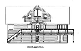House Plan 86539 with 5 Beds, 4 Baths, 2 Car Garage Elevation