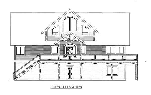House Plan 86539 Elevation