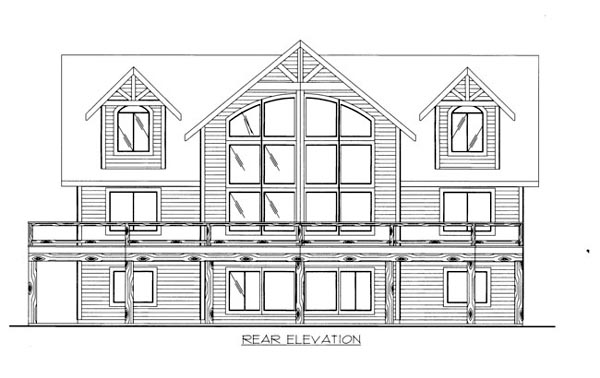 House Plan 86539 Rear Elevation
