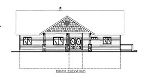 House Plan 86540 Elevation