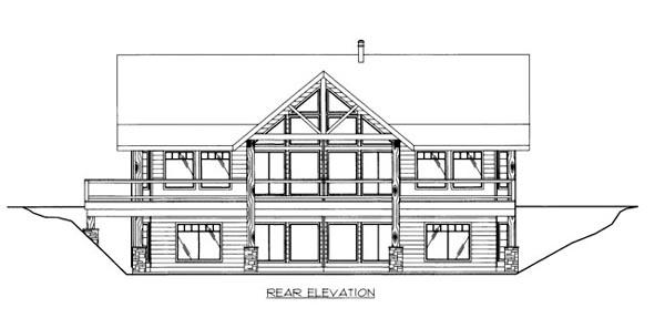 House Plan 86540 Rear Elevation
