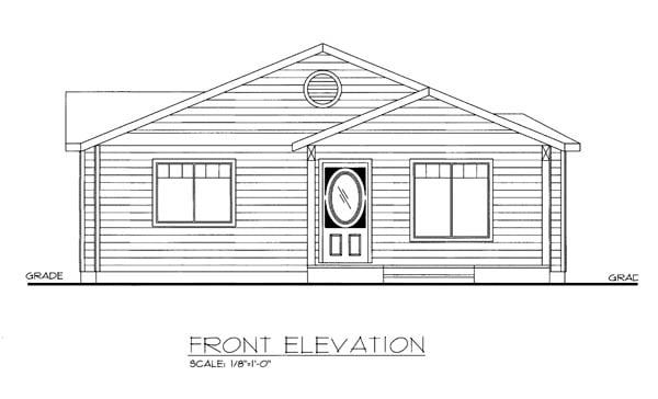 House Plan 86541 Elevation