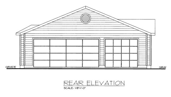 House Plan 86541 | Style Plan with 1940 Sq Ft, 3 Bedrooms, 2 Bathrooms, 3 Car Garage Rear Elevation