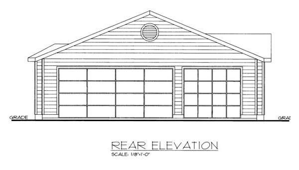 House Plan 86541 Rear Elevation