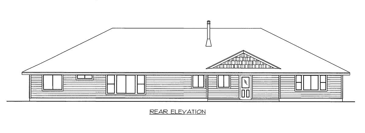 House Plan 86542 Rear Elevation