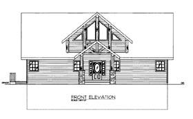 House Plan 86544 Elevation