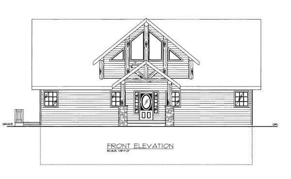 House Plan 86544 Elevation