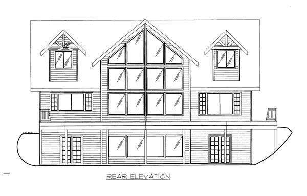 House Plan 86544 Rear Elevation