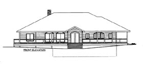 House Plan 86545 Elevation
