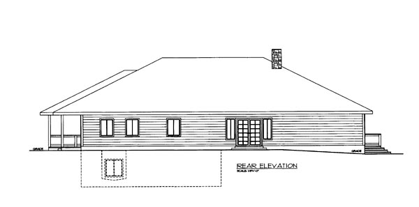 House Plan 86545 Rear Elevation