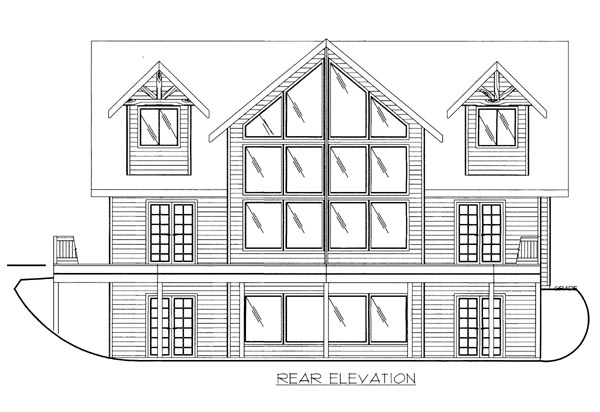House Plan 86546 Rear Elevation