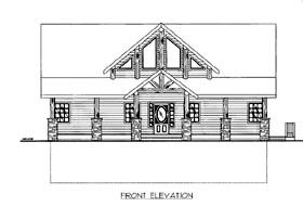 House Plan 86547 Elevation