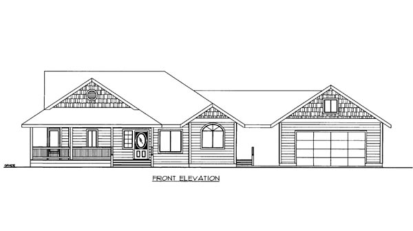 House Plan 86549 | Style Plan with 1922 Sq Ft, 2 Bedrooms, 2 Bathrooms, 2 Car Garage Elevation