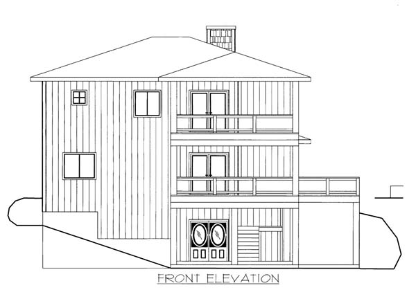 House Plan 86550 Elevation